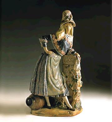 Woman With Hat (l.e.) (b) Lladro Figurine
