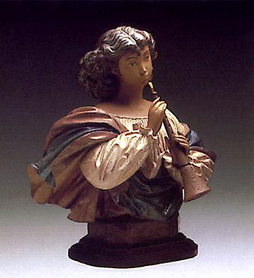 Woman With Mandolin -b- Lladro Figurine