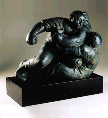 Wrestling (l.e.) (b) Lladro Figurine