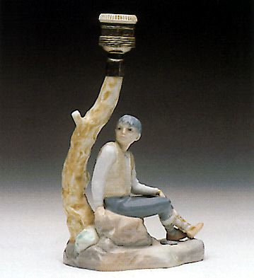 Young Shepherd (lamp) Lladro Figurine
