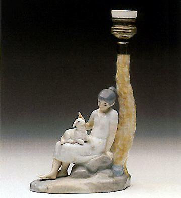 Young Shepherdess (lamp) Lladro Figurine