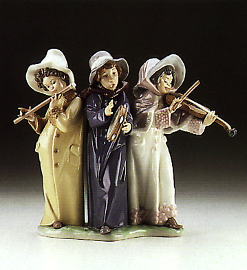 Young Street Musicians Lladro Figurine