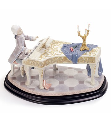 Young W. Mozart 250 Th Anniversary Lladro Figurine